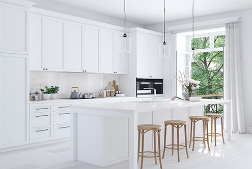 renovate modern white kitchen